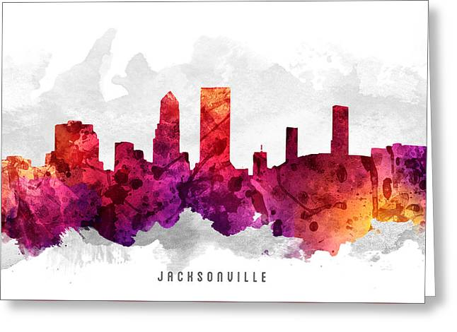 Jacksonville Greeting Cards - Jacksonville Florida Cityscape 14 Greeting Card by Aged Pixel