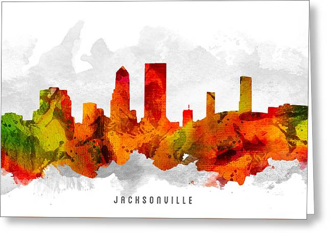 Jacksonville Florida Cityscape 15 Greeting Card by Aged Pixel