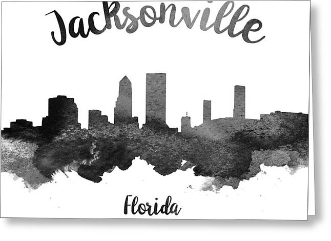 Jacksonville Florida Skyline 18 Greeting Card by Aged Pixel