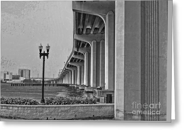 Jacksonville Fuller Warren Bridge Greeting Card by Luther Fine Art