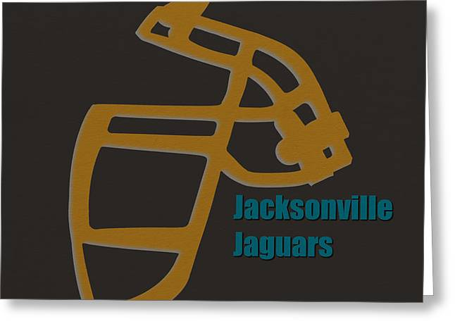 Jaguar Art Greeting Cards - Jacksonville Jaguars Retro Greeting Card by Joe Hamilton