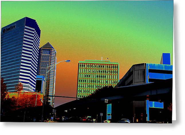 Jacksonville Greeting Cards - Jacksonville Late Afternoon Greeting Card by Ross Lewis