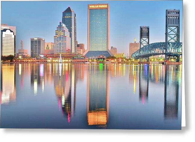 Jacksonville Reflecting Greeting Card by Frozen in Time Fine Art Photography