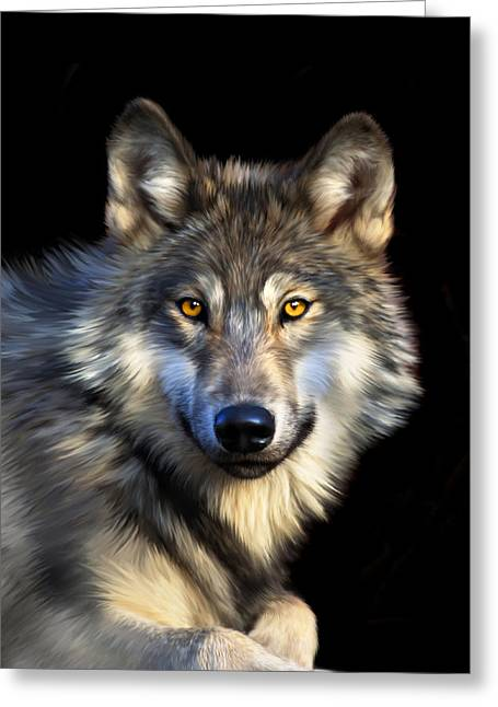 Canine Digital Art Greeting Cards - Jacob Greeting Card by Julie L Hoddinott