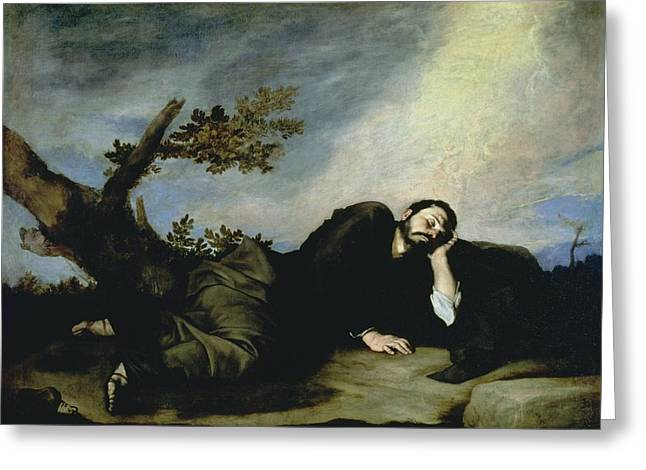 Jacobs Greeting Cards - Jacobs Dream Greeting Card by Jusepe de Ribera