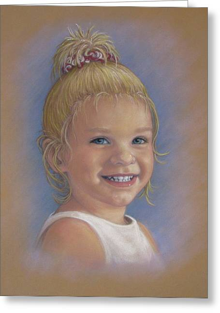 Commissions Pastels Greeting Cards - Jada Greeting Card by Tanja Ware