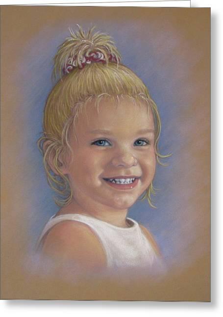 Baby Pastels Greeting Cards - Jada Greeting Card by Tanja Ware