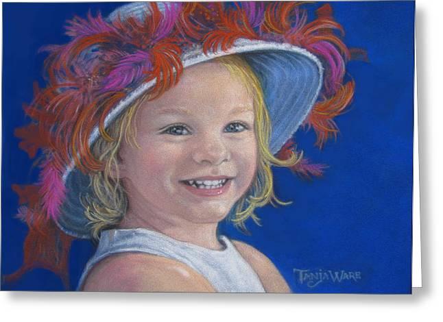 Baby Pastels Greeting Cards - Jadas Hat Greeting Card by Tanja Ware