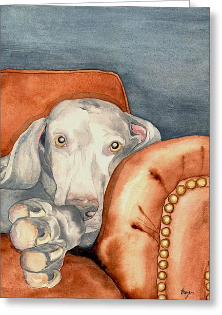 Couch Greeting Cards - Jade Greeting Card by Brazen Edwards
