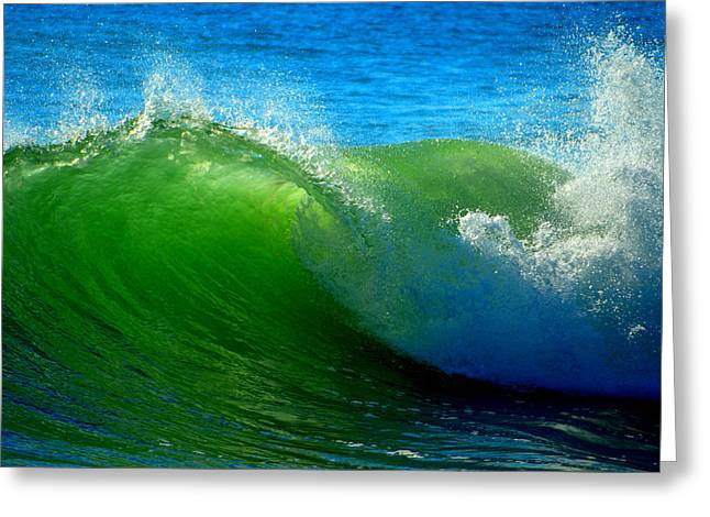New England Ocean Greeting Cards - Jade Cascade Greeting Card by Dianne Cowen