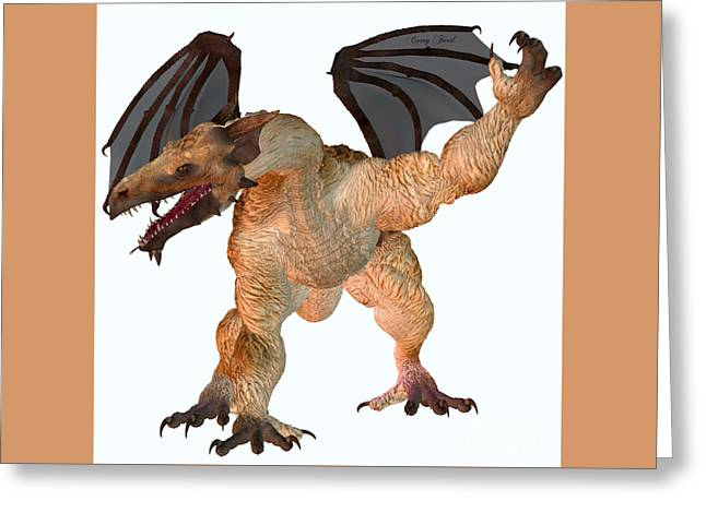 Fantasy Creatures Greeting Cards - Jag Dragon Greeting Card by Corey Ford