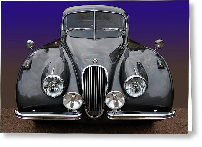 Jaguars Greeting Cards - Jag Drophead Greeting Card by Bill Dutting