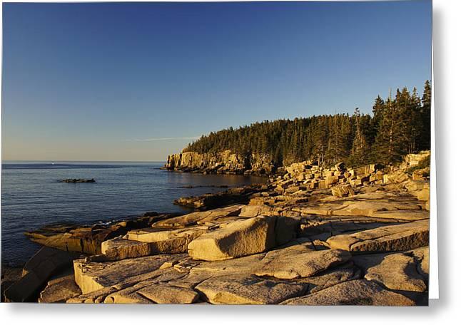 Exposure Greeting Cards - Jagged Coast of Maine Greeting Card by Brian Kamprath