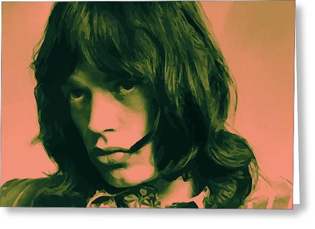 Mick Jagger Poster Greeting Cards - Jagger 01 Greeting Card by Daniel elias Bravo