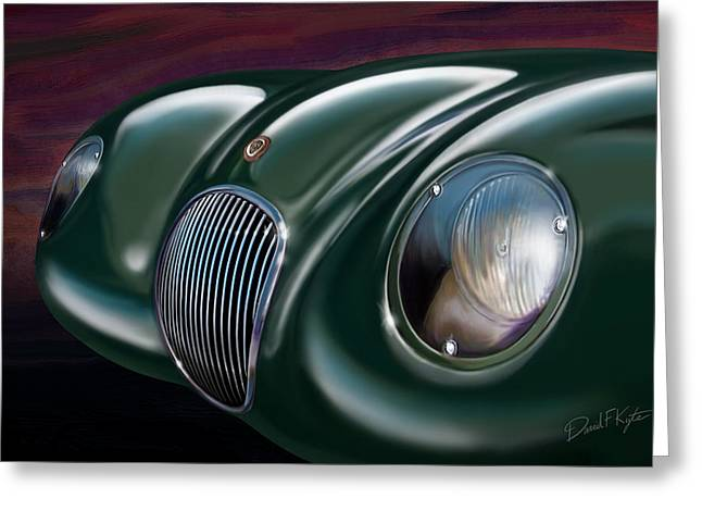 Jaguars Digital Greeting Cards - Jaguar C Type Greeting Card by David Kyte