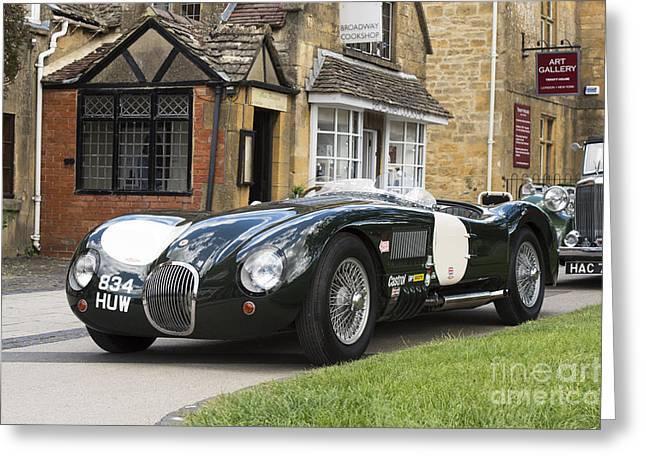 Jaguars Greeting Cards - Jaguar C Type Greeting Card by Tim Gainey