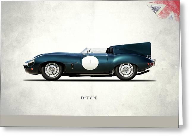 Jaguar D-type Greeting Card by Mark Rogan