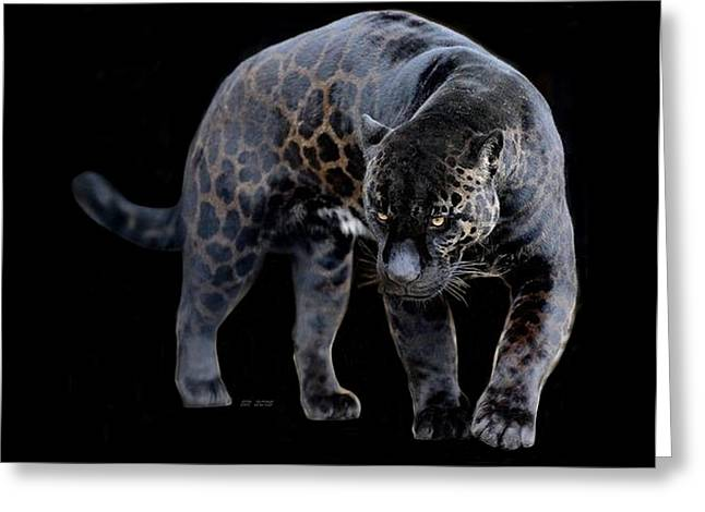 Jaguars Greeting Cards - Jaguar Diablo Greeting Card by Steamy Raimon