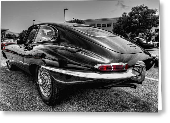 Sports Car Greeting Cards - Jaguar E Type 001 Greeting Card by Lance Vaughn