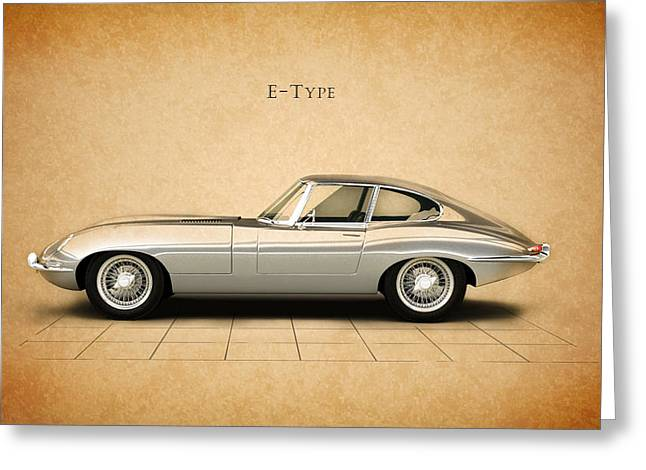 E Type Greeting Cards - Jaguar E Type Coupe Greeting Card by Mark Rogan