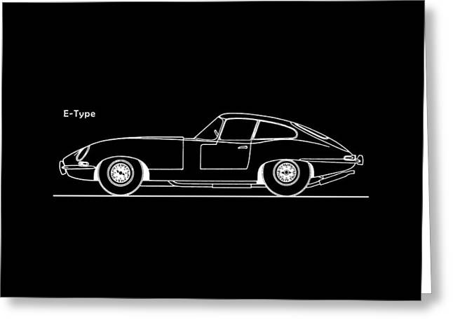 E Type Greeting Cards - Jaguar E Type Phone Case Greeting Card by Mark Rogan