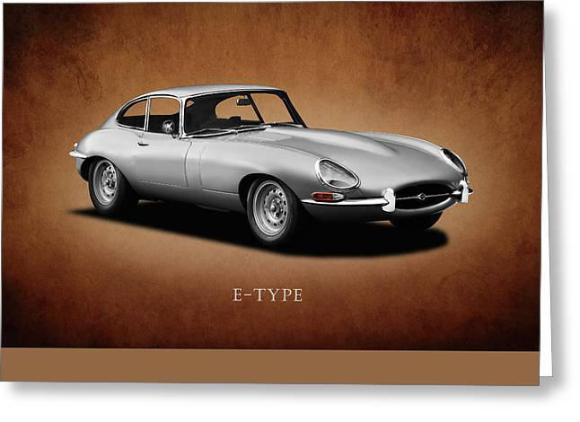 E Type Greeting Cards - Jaguar E-Type Series 1 Greeting Card by Mark Rogan