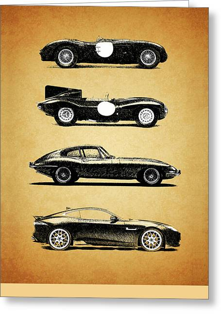 T Shirts Photographs Greeting Cards - Jaguar Evolution Greeting Card by Mark Rogan