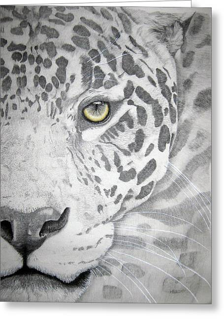 Jaguars Pastels Greeting Cards - Jaguar Greeting Card by Mayhem Mediums