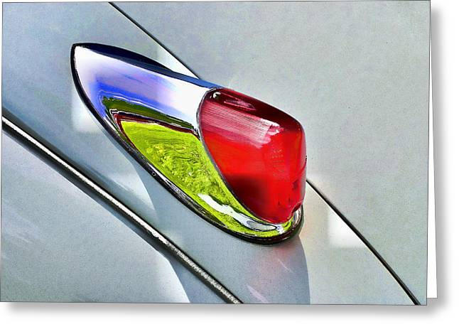 Collector Hood Ornament Greeting Cards - Jaguar X K 150 Tail Light Greeting Card by Allen Beatty