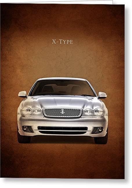 Jaguars Greeting Cards - Jaguar X Type Greeting Card by Mark Rogan