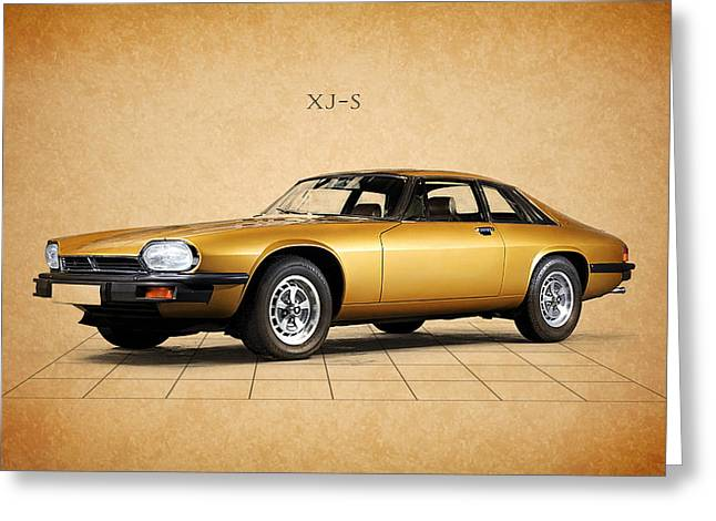 Jaguar Art Greeting Cards - Jaguar XJ S Greeting Card by Mark Rogan