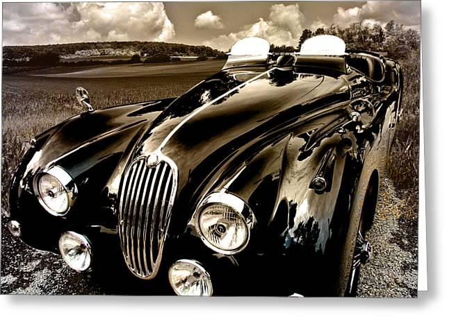 Jaguars Greeting Cards - Jaguar XK 140 Greeting Card by Alexa Szlavics