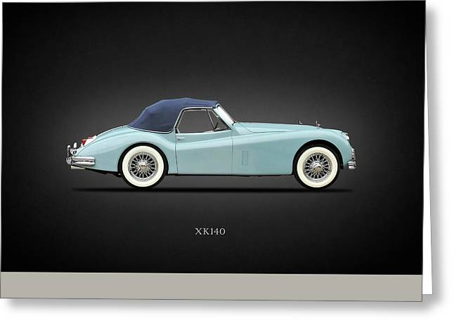 Jaguar Xk140 Greeting Card by Mark Rogan