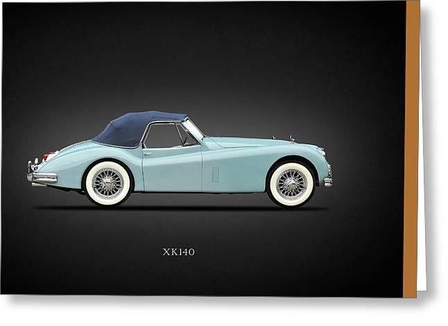 British Classic Cars Greeting Cards - Jaguar XK140 Greeting Card by Mark Rogan