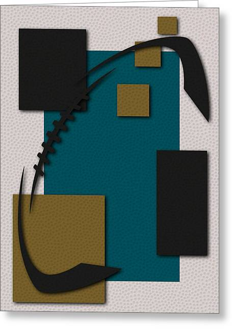 Jacksonville Greeting Cards - Jaguars Football Art Greeting Card by Joe Hamilton