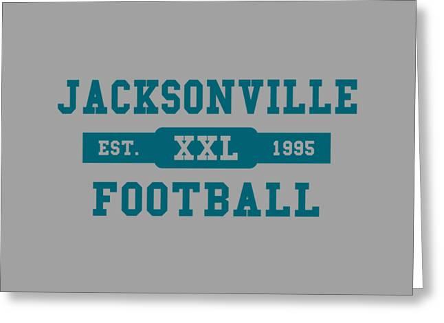 Jacksonville Greeting Cards - Jaguars Retro Shirt Greeting Card by Joe Hamilton