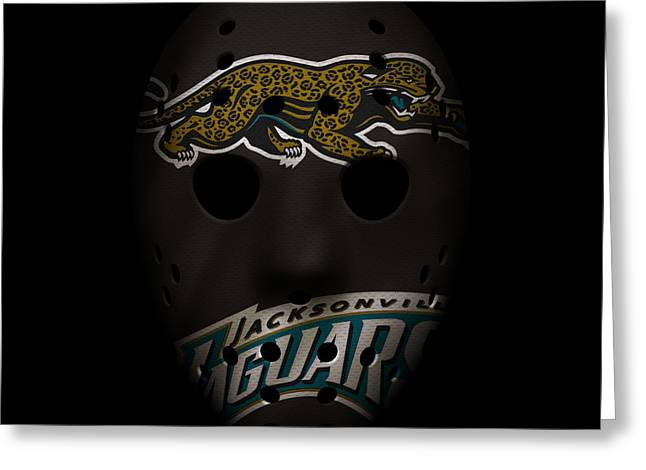 Jaguars Greeting Cards - Jaguars War Mask 2 Greeting Card by Joe Hamilton