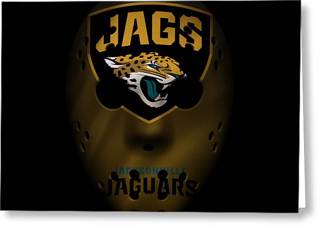 Jaguars Greeting Cards - Jaguars War Mask 3 Greeting Card by Joe Hamilton