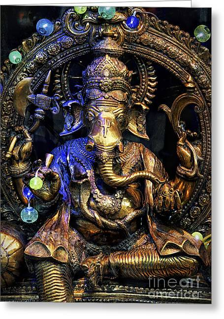 Jai Ganesh Greeting Card by Tim Gainey