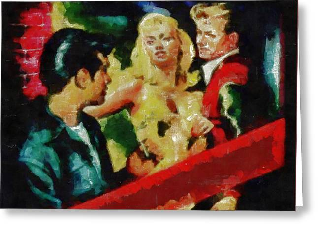 Dime Store Greeting Cards - Jail Bait True Crime Series Greeting Card by Edward Fielding
