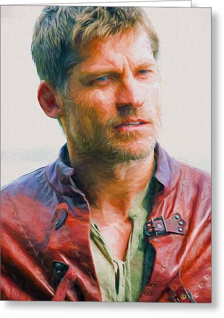 Creative People Greeting Cards - Jaime Lannister I - Game Of Thrones Greeting Card by Nikola Durdevic