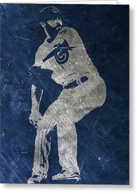 Jake Arrieta Chicago Cubs Art Greeting Card by Joe Hamilton