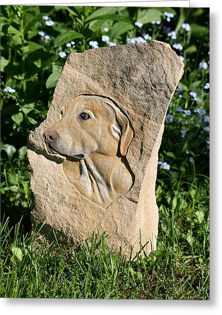 Dog Reliefs Greeting Cards - Jake Greeting Card by Ken Hall