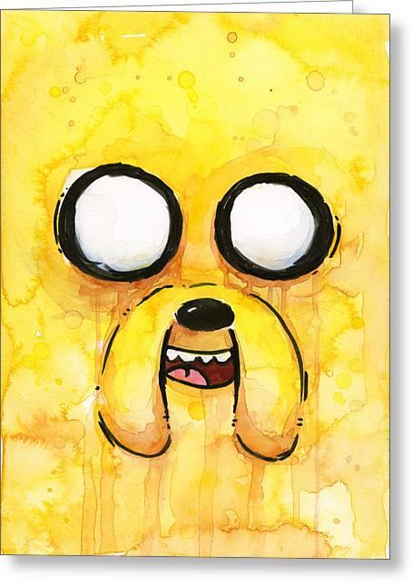 Yellow Dog Greeting Cards - Jake Greeting Card by Olga Shvartsur