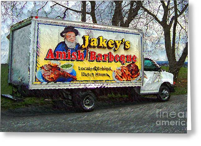 Amish Greeting Cards - Jakeys Greeting Card by Jeff Breiman
