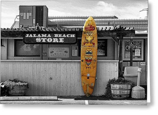 Jalama Beach Store Greeting Card by Ron Regalado