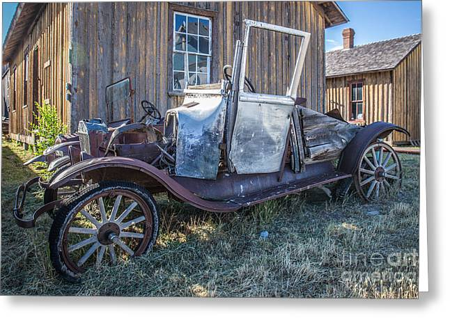 Rusted Cars Greeting Cards - Jalopy Greeting Card by Lynn Sprowl