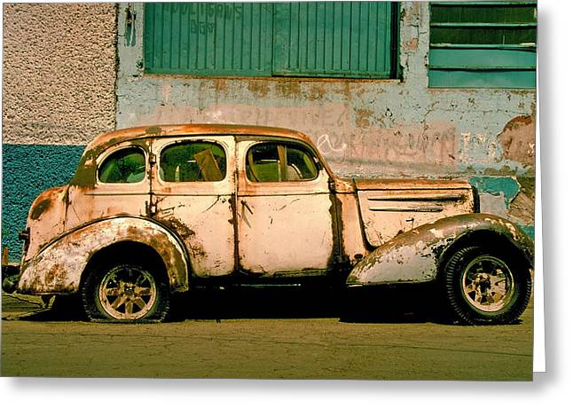Jalopy Greeting Card by Skip Hunt