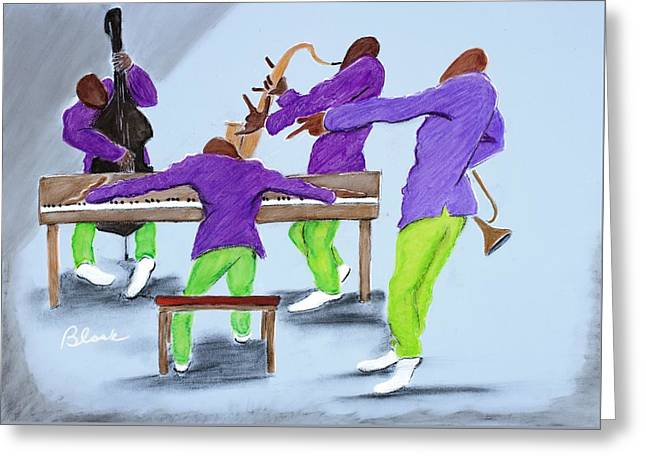 Chicago Pastels Greeting Cards - Jam Session Greeting Card by Charlie Black
