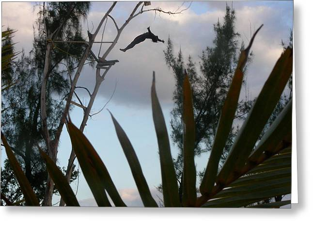 Jamaica Dive Greeting Card by Peter  McIntosh